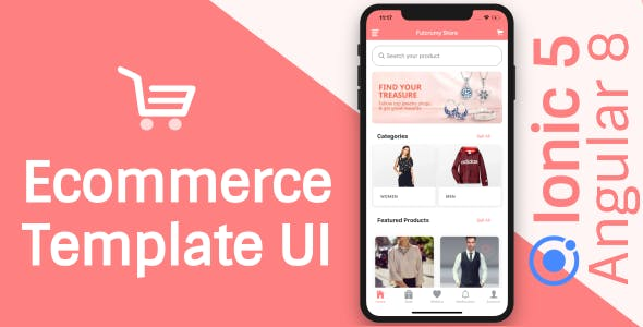 Ecommerce App Theme/Template UI (Ionic 5 Angular 9 & TypeScript)