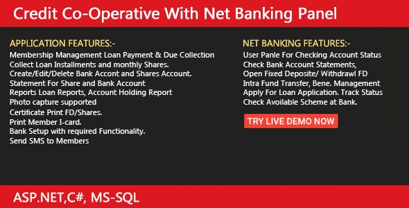 Credit Co-Operative With Net-Banking - CodeCanyon Item for Sale