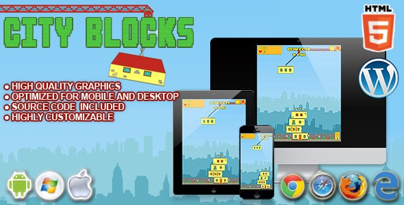 City Blocks - HTML5 Game - CodeCanyon Item for Sale