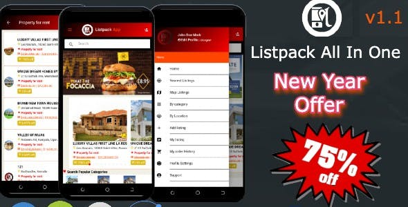 Listpack Ionic 4 Classified Ads  Android  + IOS + Frontend + Backend