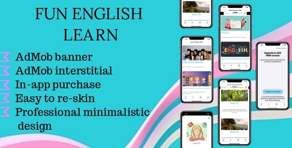 Fun English learn - iOS educational app
