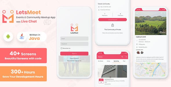 LetsMeet - Android Community & Meetup App + Admin panel