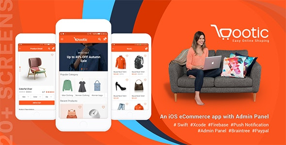 Bootic - An iOS eCommerce app with admin panel - CodeCanyon Item for Sale