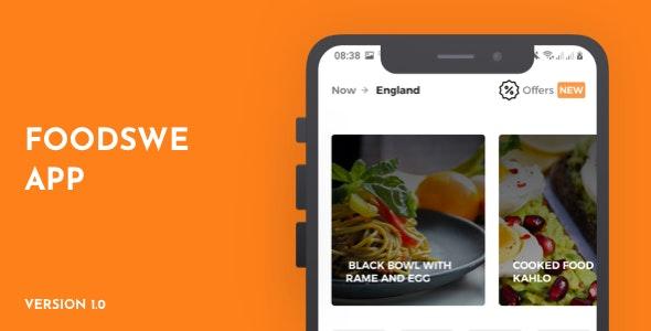 FoodsWe - Food Ordering App UI - CodeCanyon Item for Sale
