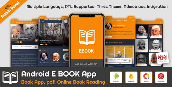 Android E-Book App(Books App, ePub, PDF, Online Book Reading)