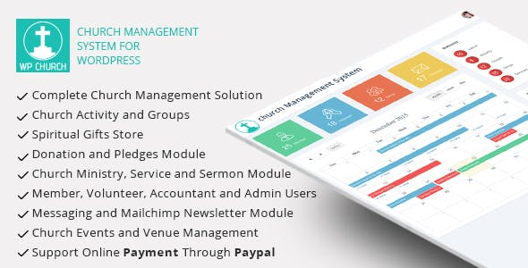 WPCHURCH - Church Management System for Wordpress