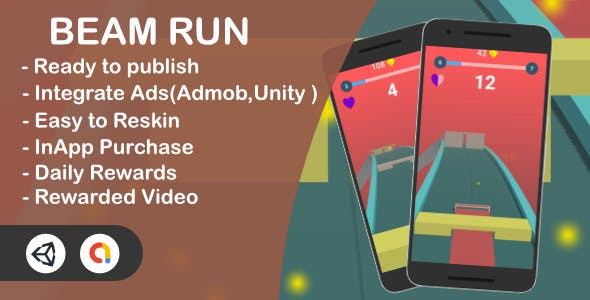 Beam Run 3D Complete Game (Unity+Admob)