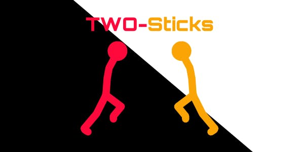 Two-Sticks | 2 Player Game | Html5 | android & ios