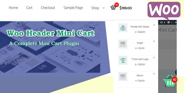 Woo Header Mini Cart