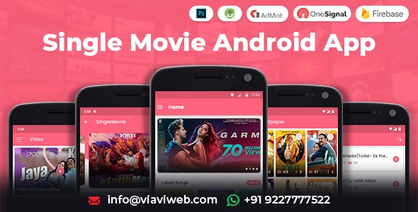 Single Movie Android App (Movie's Wallpaper, Video, MP3 Songs, Trailer, Bollywood Movie) - CodeCanyon Item for Sale