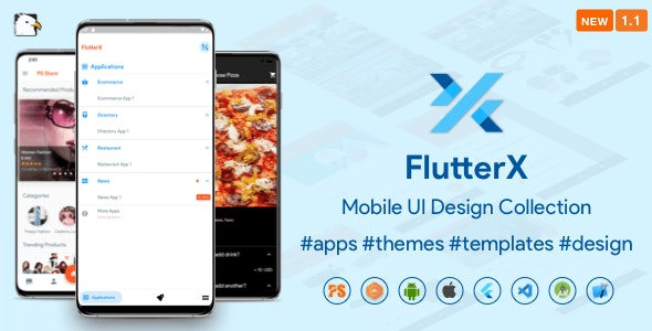 FlutterX (Flutter UI Kits Widgets and Template Collection For iOS & Android) 1.1 - CodeCanyon Item for Sale