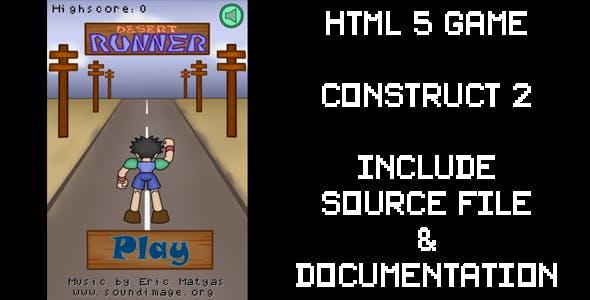 Desert Runner - HTML5 Game (Construct2)