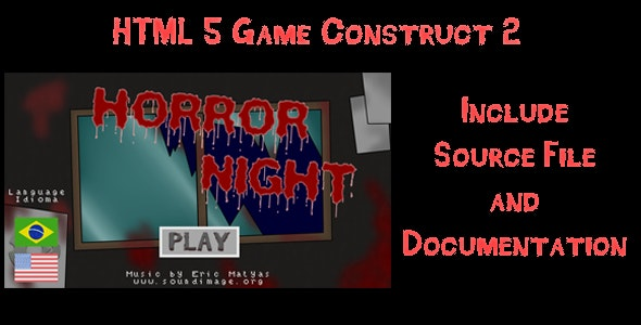 Horror Night - HTML5 Game (Construct2) - CodeCanyon Item for Sale