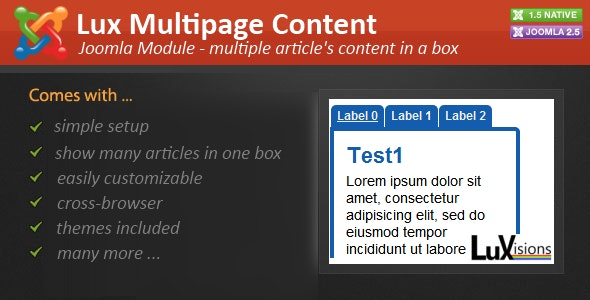 Lux Multipage Content - CodeCanyon Item for Sale