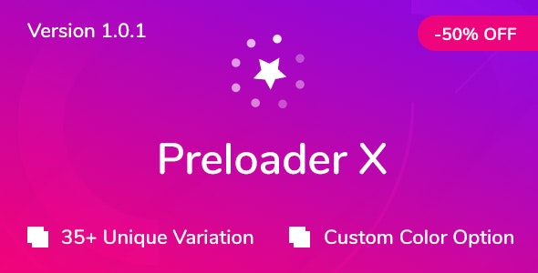 Preloader X - CodeCanyon Item for Sale