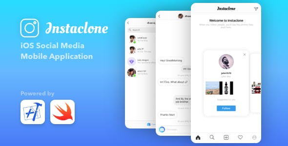 Instaclone - Instagram Full Clone + Admin Panel