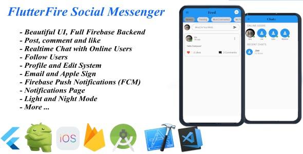 FlutterFire Social Messenger