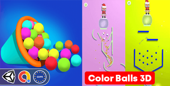 Color Balls 3D - (Unity Complete Game + Admob )