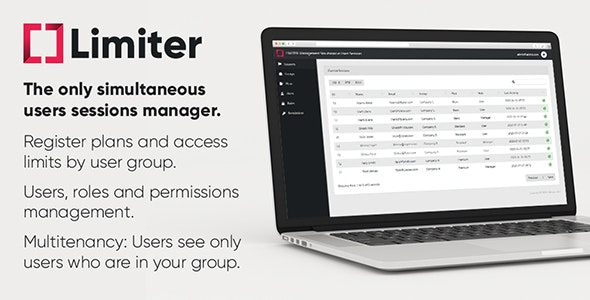 Limiter: Management Simultaneous Users Sessions (PHP & Laravel) - CodeCanyon Item for Sale