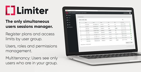 Limiter: Management Simultaneous Users Sessions (PHP & Laravel)