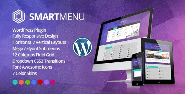 SmartMenu - Responsive jQuery Mega Menu WordPress Plugin - CodeCanyon Item for Sale