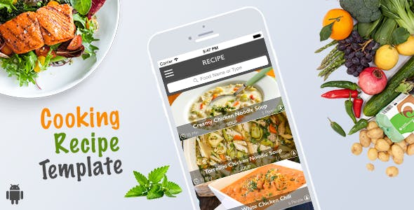 Cooking Recipe Template for Android