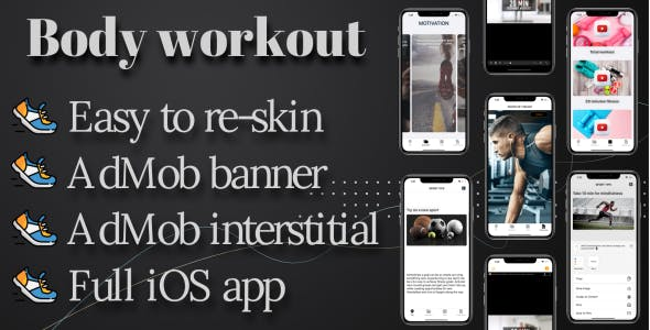 'Body workout' full iOS template