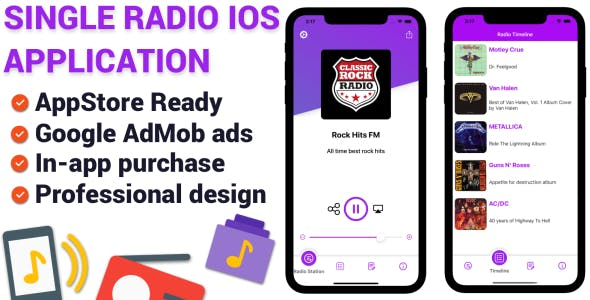 Single Station Radio - iOS Application
