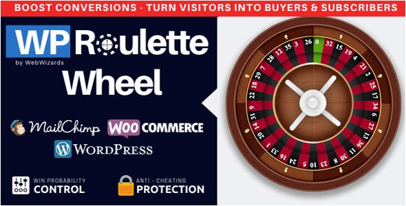 WP Roulette Wheel – Spin to Win WooCommerce Coupons