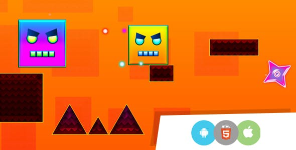 Square Dash Endless - Android & HTML5 Game