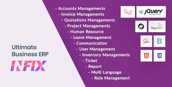 InfixBiz - Open Source Business Management ERP - CodeCanyon Item for Sale