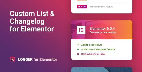 Changelog & Custom List for Elementor – Logger - CodeCanyon Item for Sale