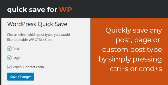 WordPress Quick Save