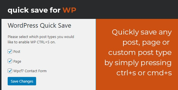 WordPress Quick Save - CodeCanyon Item for Sale