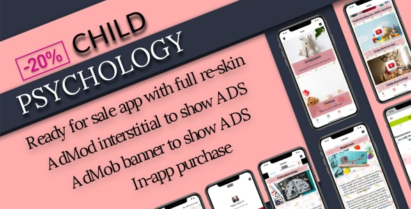 «Child psychology» - ready for sale iOS app - CodeCanyon Item for Sale