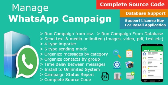 Manage WhatsApp Campaign - Automate WhatsApp Messaging - Business Marketing - Bulk Sender - CodeCanyon Item for Sale