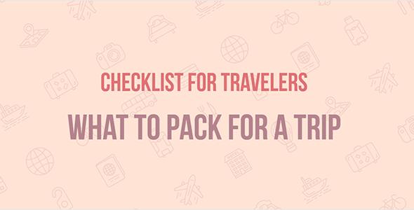 Travel Checklist — JavaScript Template (plugin) for Travel websites