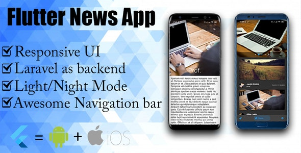 Flutter News App with laravel as backend - CodeCanyon Item for Sale