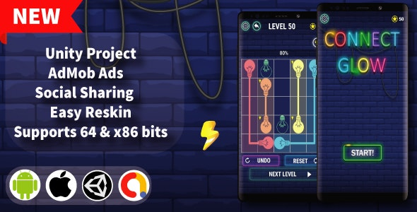 Connect Glow  - Unity Game Template + Admob - CodeCanyon Item for Sale