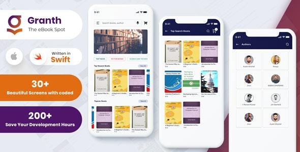 Granth - iOS Ebook App Swift 4 + Admin panel - CodeCanyon Item for Sale