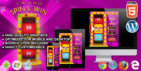 Casino Spin and Win - HTML5 Casino Game - CodeCanyon Item for Sale