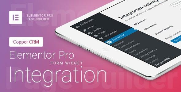 Elementor Pro Form Widget - Copper CRM - Integration