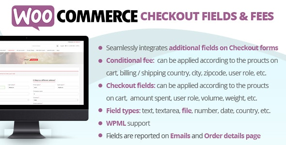 WooCommerce Checkout Fields & Fees - CodeCanyon Item for Sale
