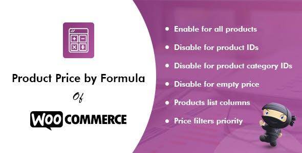 Product Price by Formula Pro for WooCommerce