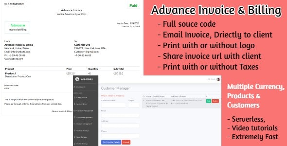 Advance Billing and Invoice   Asp Core - CodeCanyon Item for Sale