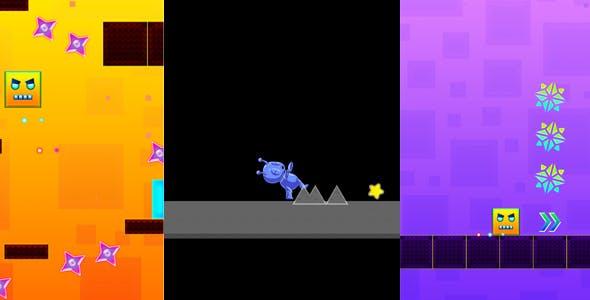 03 HTML5 GAMES!!! PLATFORMER BUNDLE (Construct 3   c3p file)