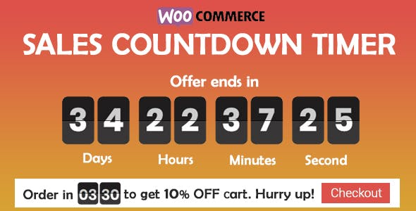 Sales Countdown Timer for WooCommerce and WordPress - Checkout Countdown