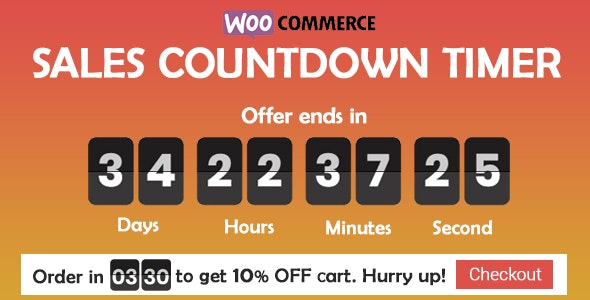 Sales Countdown Timer for WooCommerce and WordPress - Checkout Countdown - CodeCanyon Item for Sale