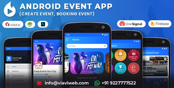 Android Event App (Create Event, Booking Event) - CodeCanyon Item for Sale