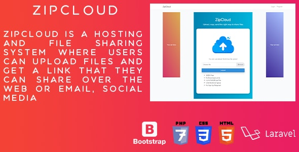 zipCloud - Online file sharing and upload platform - CodeCanyon Item for Sale